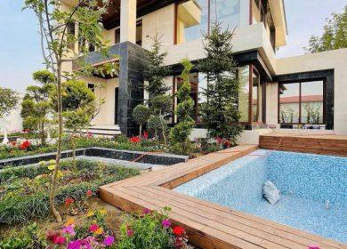 ویلا باغ مدرن استخردار در منطقه برند و جنگلی | 400 متر
